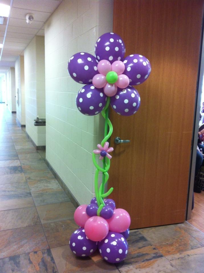 Beautiful Flower Entryway Piece Flower BalloonsBalloon