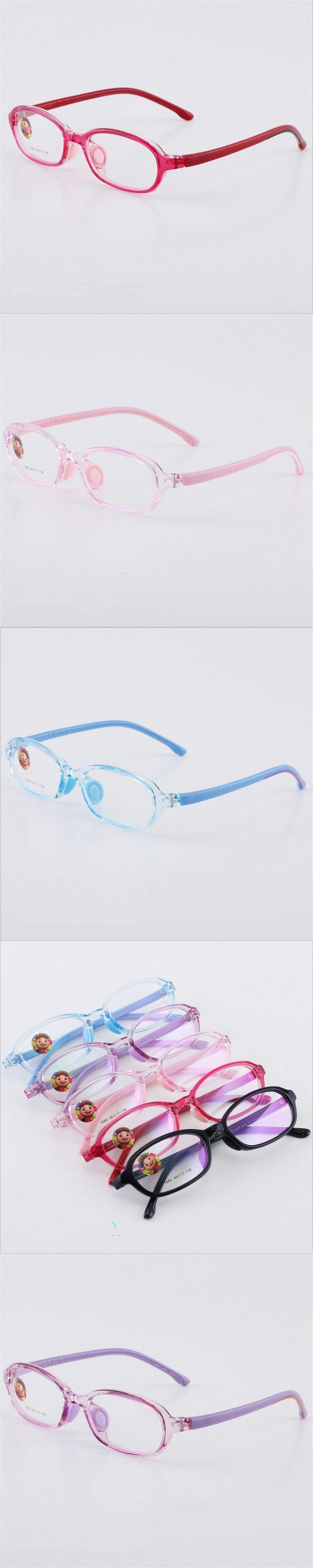 TR90 Glasses Boy Girl Eyeglasses Lightweight Flexible Eyewear Frame Children Prescription Glasses frame Silicone nose care 1680