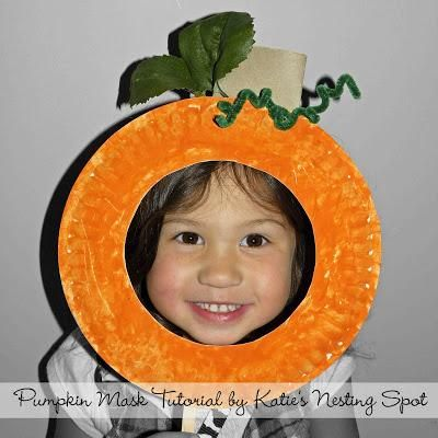 DIY Autumn : DIY Pumpkin Paper Plate Craft For Kids