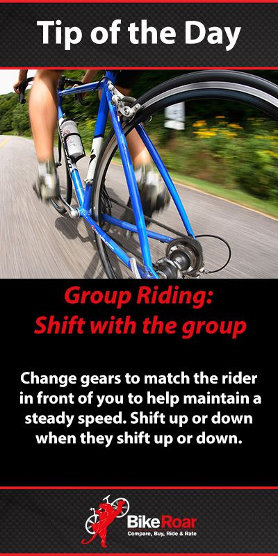Shift with the group… #BikeRoarTOD