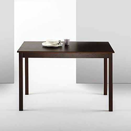 """Zinus Espresso Wood Dining Table / Table Only  Sturdy pine wood Construction  Measures 45"""" x 28"""" x 29""""  Easily assembled in minutes  Table only/ does not include chairs  Worry free 1 year warranty"""