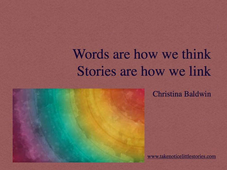 Link what you notice with your words and you create your story.