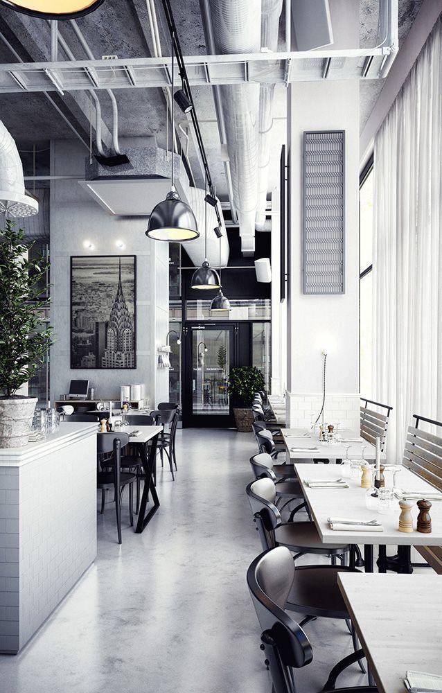 Industrial cafe design on behance environmental