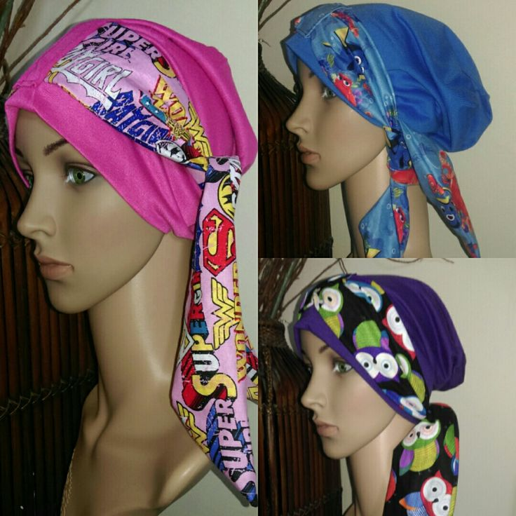 Gorgous Girls Chemo Caps by Dy's Sewing Room. Find me on Facebook.
