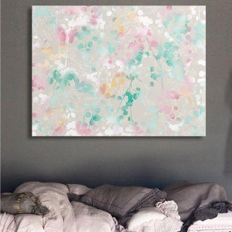 Poplar pastel canvas art print