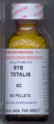 Eye / Eye Totalis supports oculur function. Eye 30C potency supports the eyes. Use for symptoms of dry or itchy eyes.