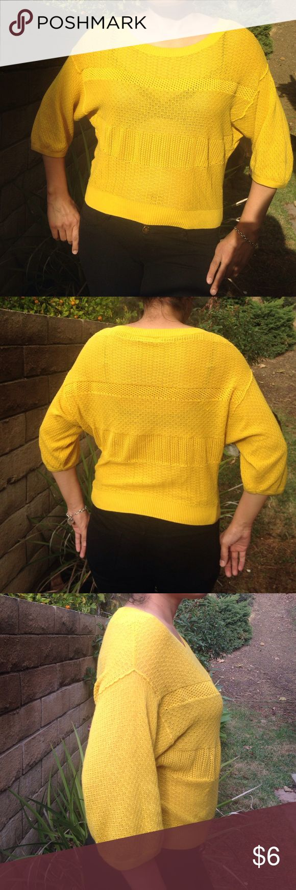 Rubbish Nordstrom Brand Sweater Light Waffle knit•mustard color•Size Small•100%cotton•this light weight sweater looks great with jeans and shorts! Rubbish Sweaters
