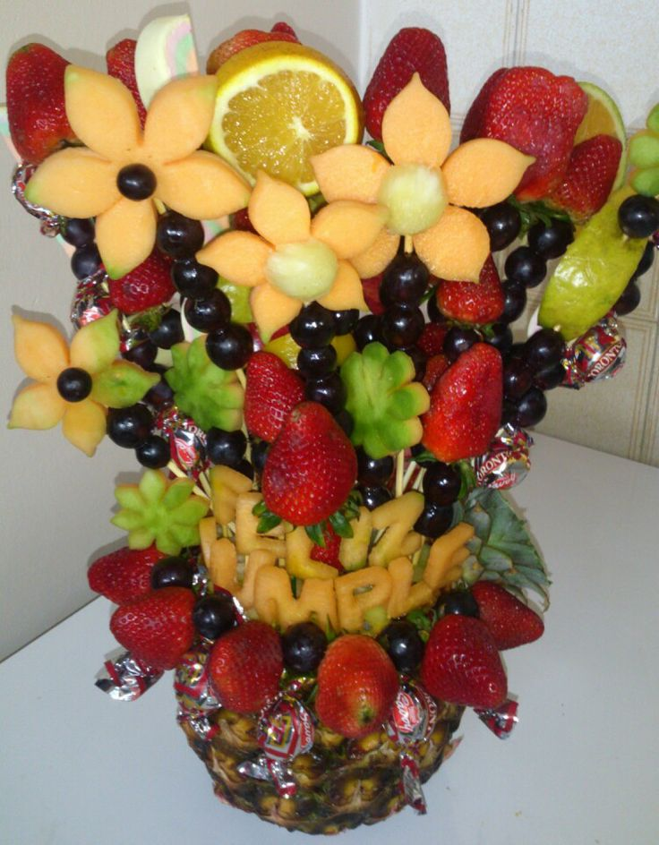 Arreglo de frutas en base de pi a arreglos de frutas - Centros de mesa con pinas ...