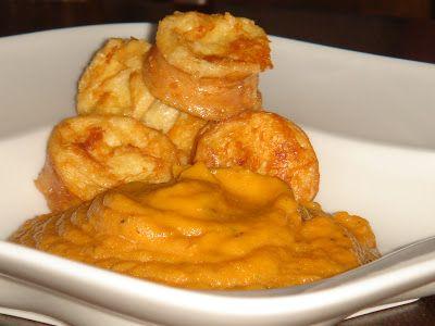 Nem vagyok mesterszakács: Fűszeres-sült fokhagymás sütőtök főzelék tejfölös-parmezános bundáskiflivel
