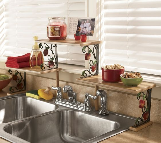 Photo Image Best Sink shelf ideas on Pinterest Shelves over kitchen sink Small kitchen counters and Small kitchen sink