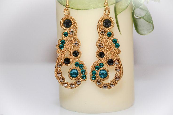 "Cercei  ""Emerald Queen"" (60 LEI la monicaanton.breslo.ro)"