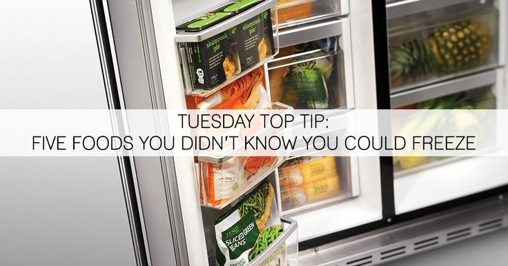 Help reduce waste by freezing those foods you didn't think you could!