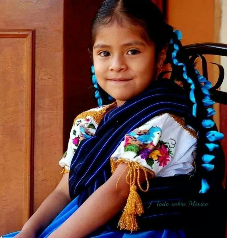 The People of Mexic: Purepecha girl.