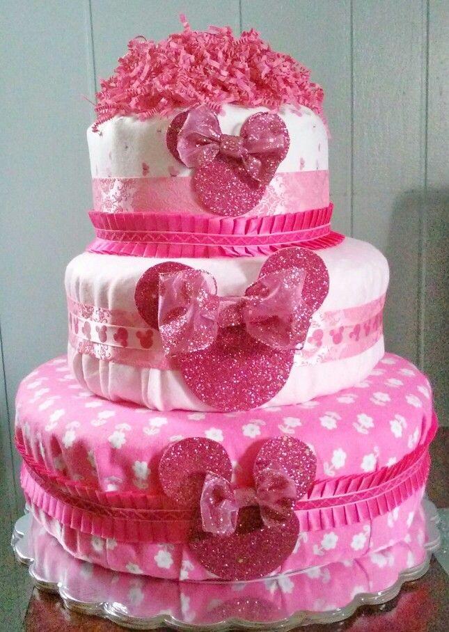 Minnie Mouse Diaper cake