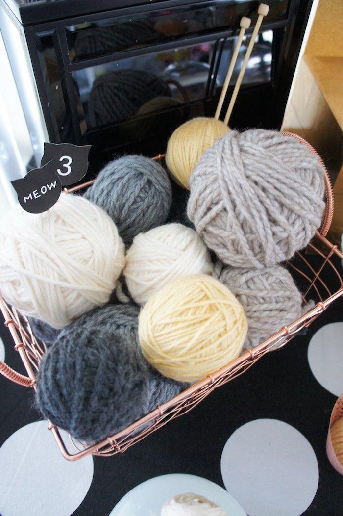 Yarn Balls from a Kitty Cat Birthday Party via Kara's Party Ideas | KarasPartyIdeas.com (21)