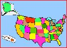 US States  Facts, map and state symbols for the 50 states, with links to related quizzes and printouts.