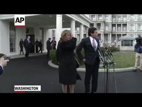 01 24 17 Ford CEO Mark Fields and General Motors CEO Mary Barra Speaking After Me...Donald J. Trump ‏@realDonaldTrump  Jan 24 More  Great meeting with Ford CEO Mark Fields and General Motors CEO Mary Barra at the @WhiteHouse today.