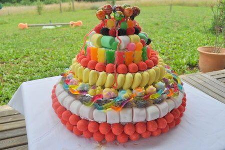 faire son propre gâteau de bonbons!