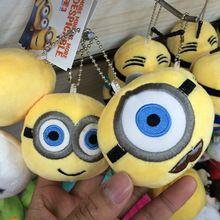 Más nuevo esbirro peluche juguetes de peluche 8 CM Minions de Despicable Me llavero colgante de muñecas juguetes nuevo(China (Mainland))