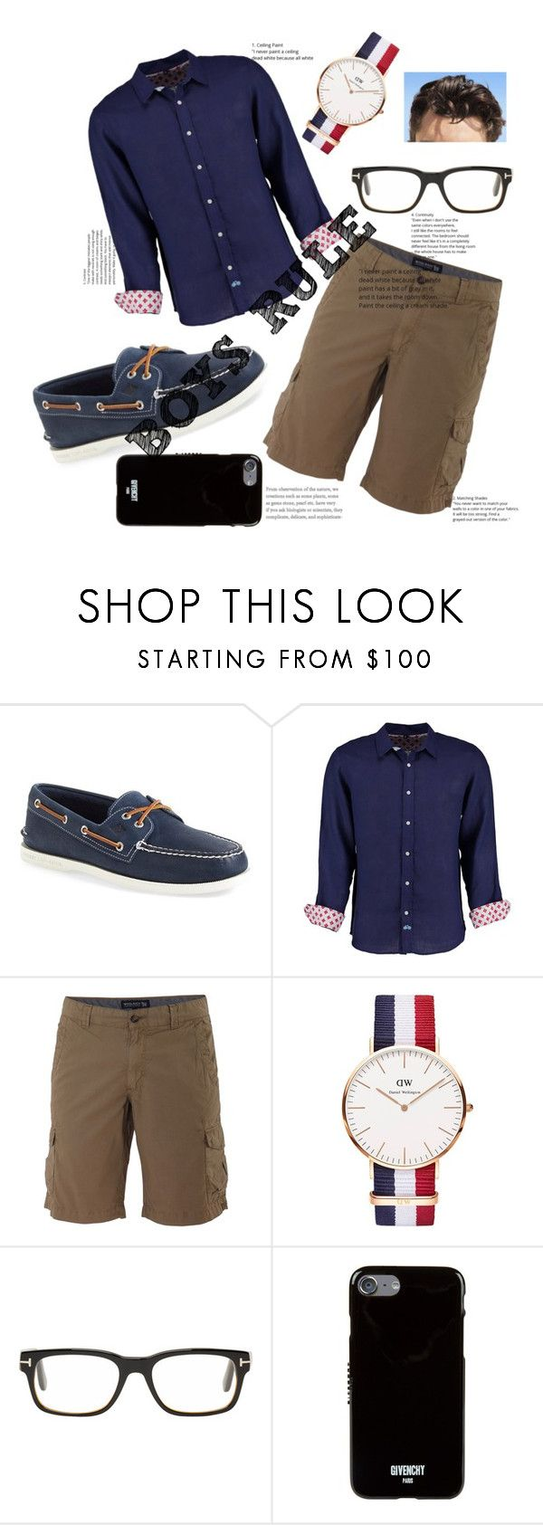 """""""Good Boy 👔"""" by missybela ❤ liked on Polyvore featuring Sperry, Tobias, Woolrich, Daniel Wellington, Tom Ford, Givenchy, vintage, men's fashion and menswear"""