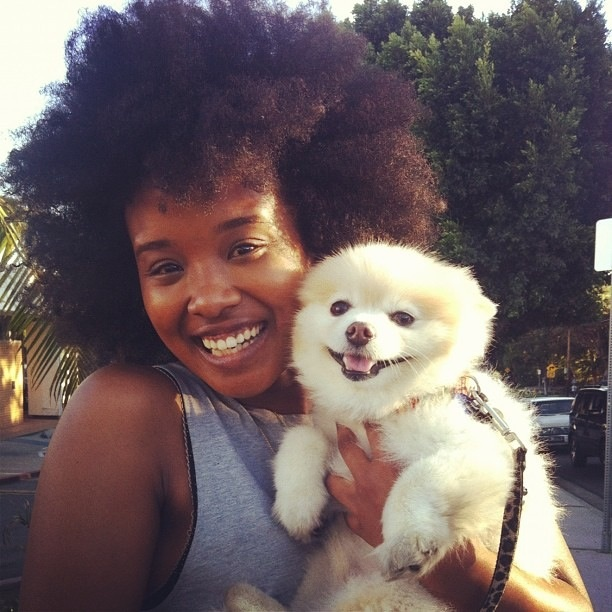Screw the traffic! Let's cuddle! This is Coco. His mama told me that he's dressing up as Snow White at the upcoming Gay Parade here in Los Angeles