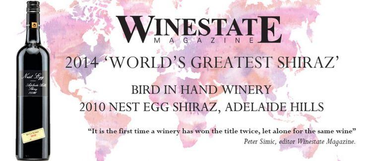 "Winestate Magazine 2014 ""World's Greatest Shiraz"" / Bird in Hand | Bird in Hand"