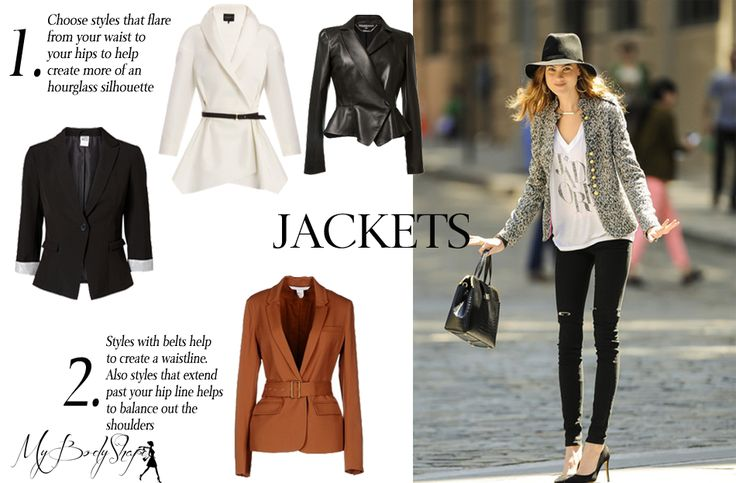 jackets for an inverted triangle body shape