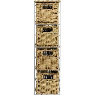 Buy Slimline 4 Drawer Seagrass Storage Tower - Natural at Argos.co.uk - Your Online Shop for Bathroom shelves and units.