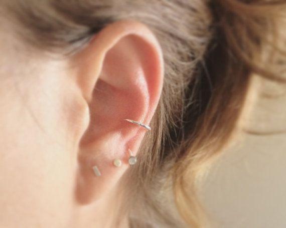 Faux perçage de nez ear cuff en argent par AnnieLesperance sur Etsy