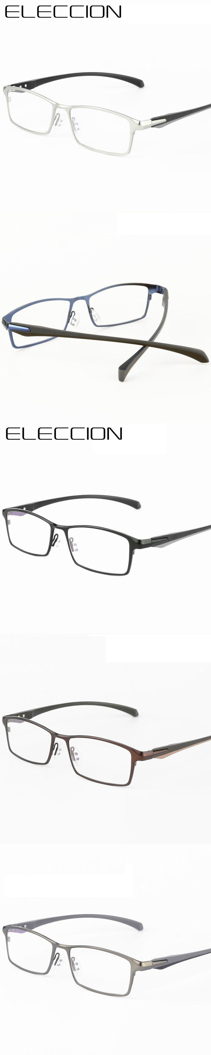 ELECCION Brand High End Business Classic Series Optics Eyeglasses Frames Men Square Full Frame Myopia Prescription Glasses Frame