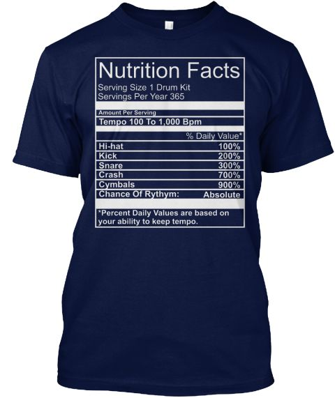 Nutrition Facts Drum T Shirt