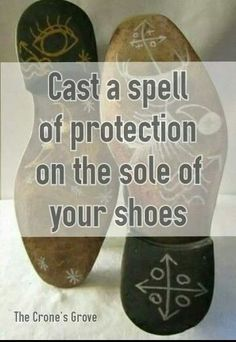 Drawing symbols on the bottoms of shoes can be useful for healing, grounding and protecting. It's not unusual to see Wicca's and Lightworkers use symbols in this way.