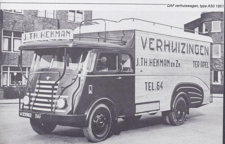 DAF verhuiswagen Hekman 1951