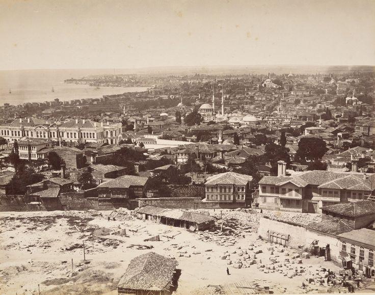 Beyazıt Kulesinden Laleli Yönü Abdullah Fréres / 1870