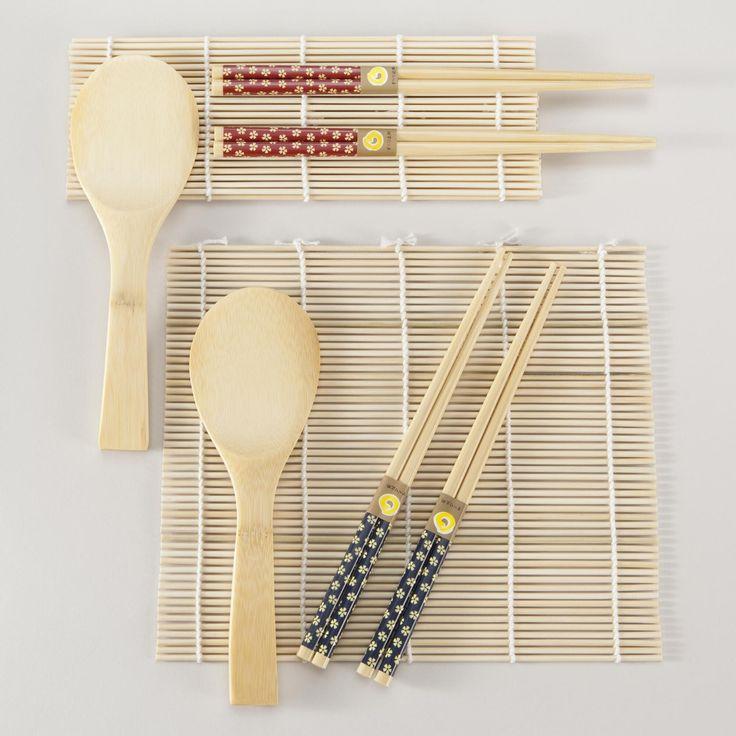$7.98 3-Piece Bamboo Sushi Sets, Set of 2 | World Market