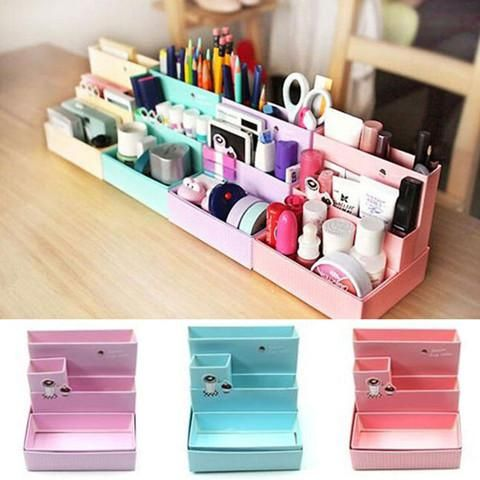 Fold-able Cosmetic Organizer