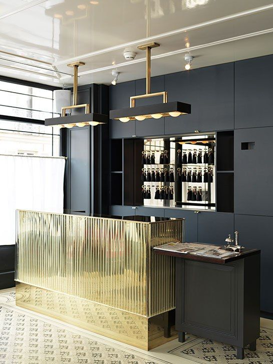 Cocktail bar. This design could translate into a very glamorous kitchen.