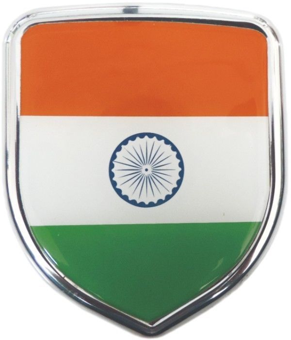 Flag 3d chrome emblem badge logo sticker for bike car accessories ebay india