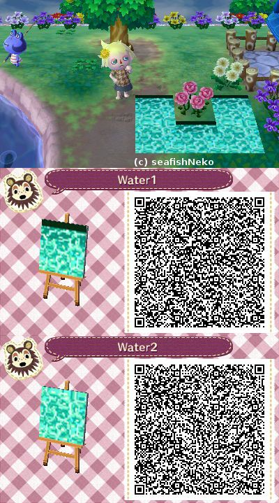 Animal Crossing Water pattern qr code by RedHoozuki