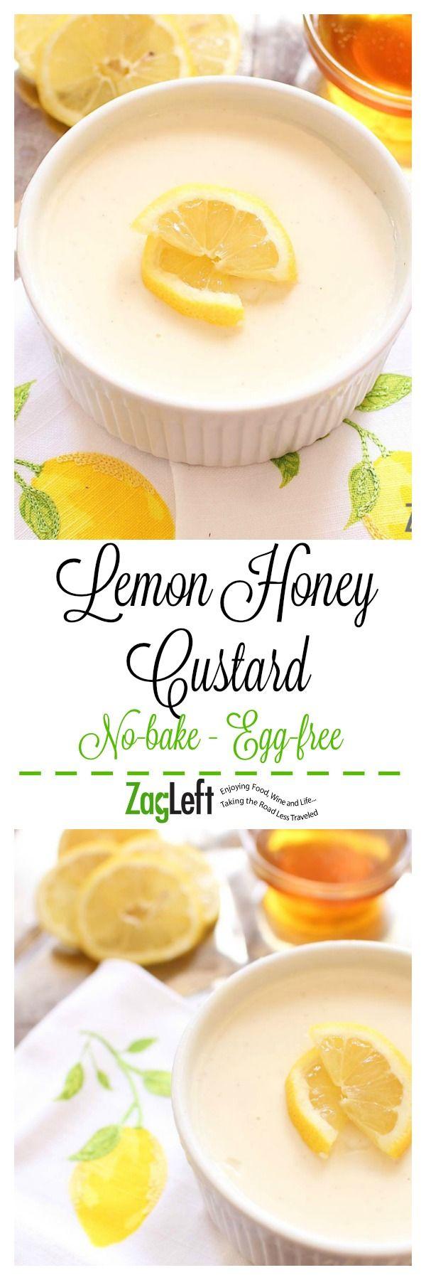 Lemon Honey Custard for One. Quick and easy. 1 cup heavy cream 1 tablespoon honey 1 1/2 tablespoons sugar 1/8 teaspoon ground nutmeg 1 inch strip lemon peel 2 tablespoons lemon juice 1/4 teaspoon vanilla extract