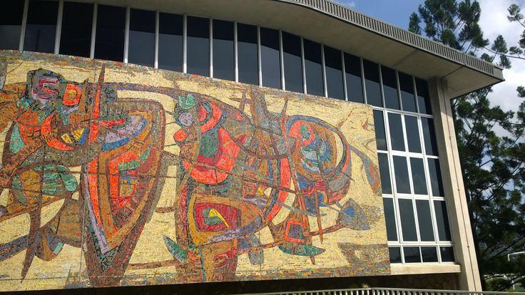 Mosaic wall, William Street , Brisbane City. This was on the cover of my history book in highschool