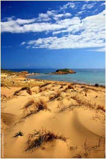 Sand dunes, Gomati beach, Lemnos island, greece