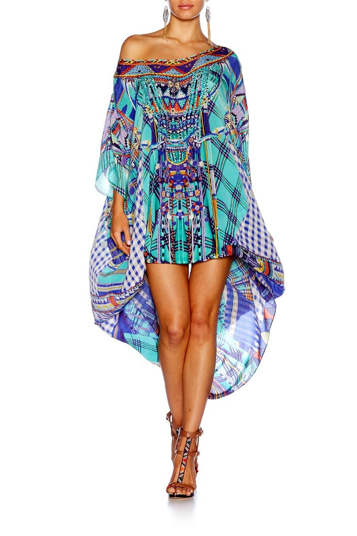 how to wear camilla round neck kaftan as a skirt