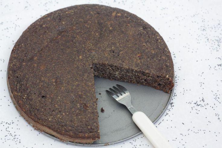 makový koláč - paleo