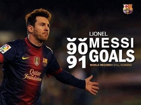 Lionel Messi's All 91 Goals in 2012 Year in One Epic Mashup