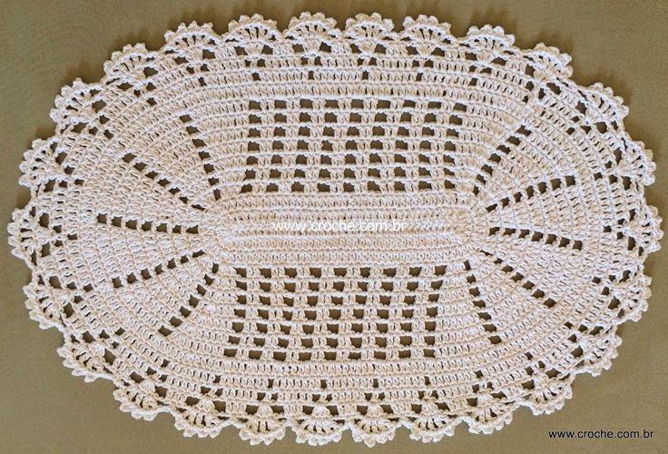 Tapete oval em crochê com aplicação de flores – Passo a passo (1ª Parte) | Croche.com.br