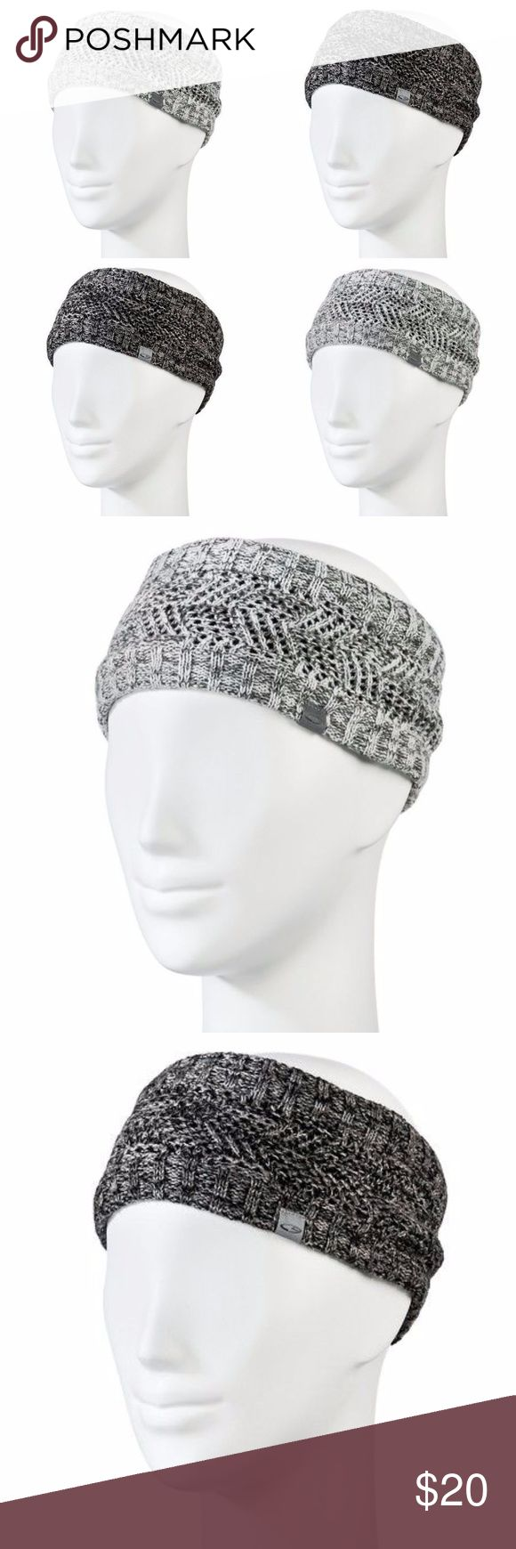 """BUNDLE 2 New CHAMPION Knit Headbands NWT Gray/Gray Bundle of 2   1 light gray & 1 dark gray  - marled knit - fleece lined - 4"""" wide - venture warm: performance fabric provides warmth without weight - reflective  condition: new with tags @cjrose25  *more colors in my closet These make great gifts & stocking stuffers. Its never to early to buy for xmas.  running - winter - fall - head warmer - earmuffs - sweater - snow bunny Champion Accessories Hair Accessories"""