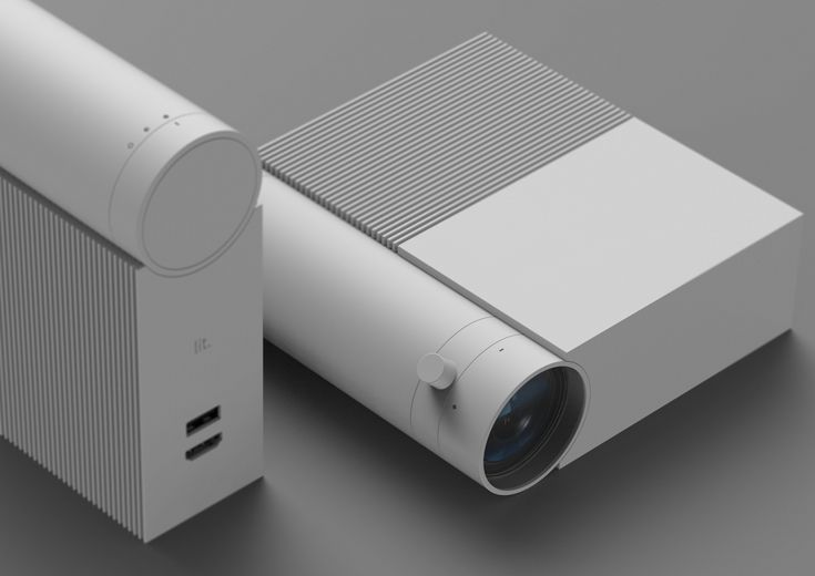 Lit by Homms. Minimal Design. Portable projector.