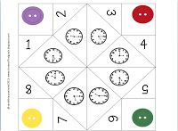 Telling Time with Cootie Catchers and Thunder Snow