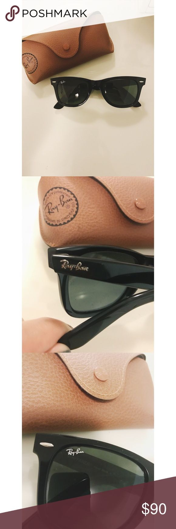 RayBan Original Wayfarer Sunglasses (black) Ray-Ban Original Wayfarer Sunglasses in Black. Worn Once. Like brand new. Comes with brown case. Authentic. Ray-Ban Accessories Sunglasses